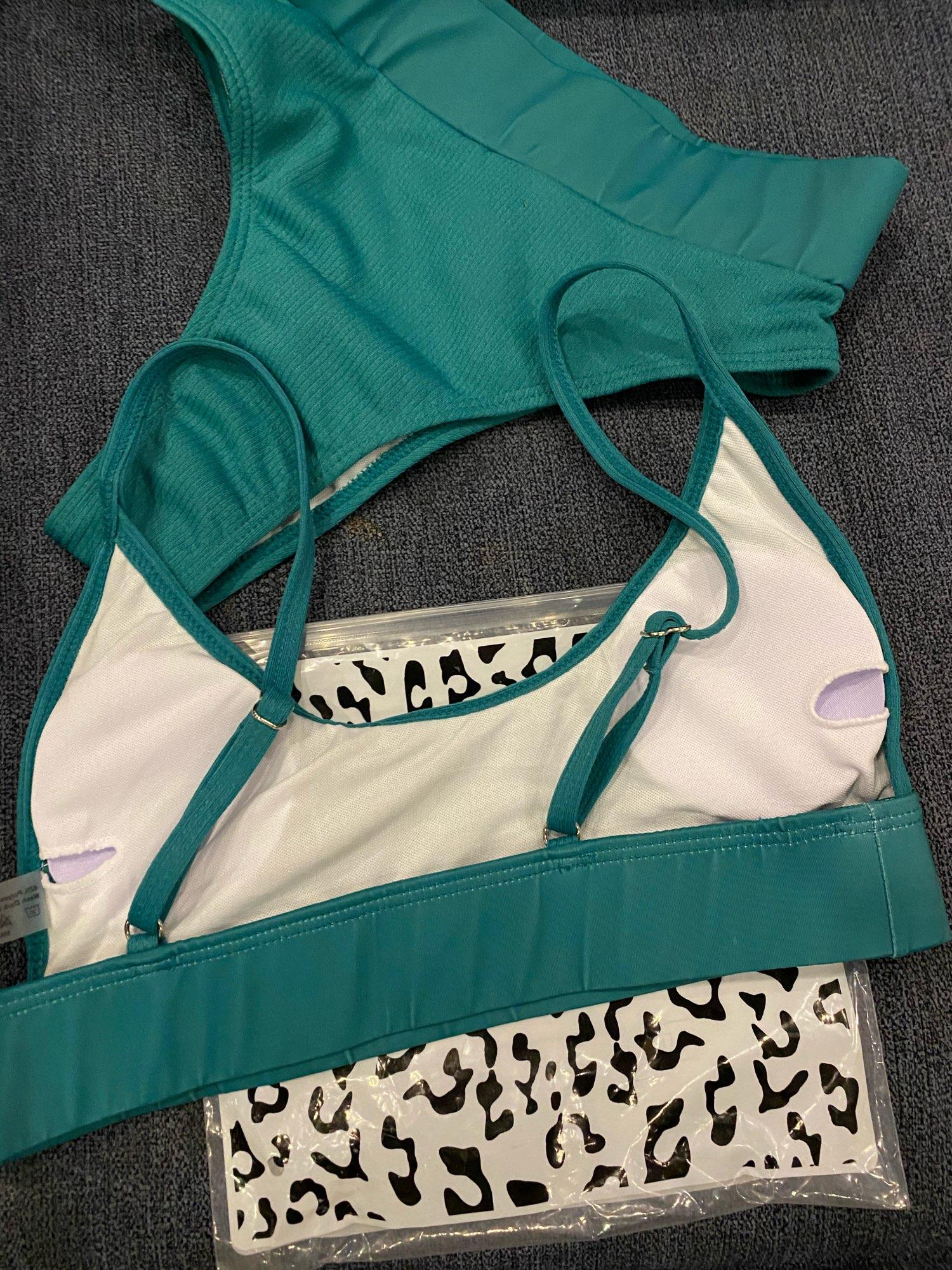 INGAGA High Waist Bikinis 2021 Swimwear Women Push Up Swimsuits Solid Brazilian Bikini Ribbed Biquini Strap Swim Bathing Suits Bikini Set    - AliExpress