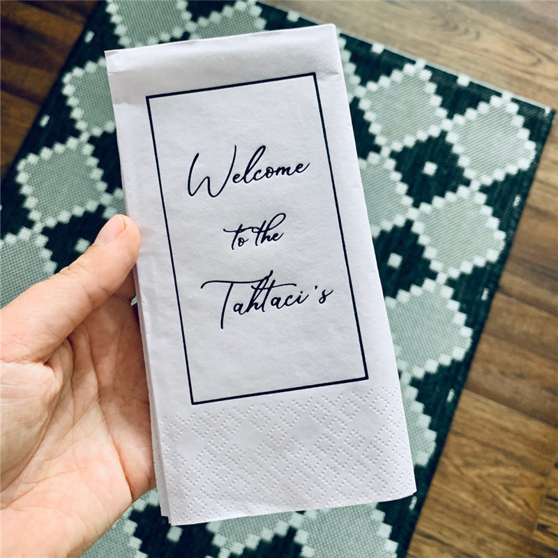 Wedding Luncheon Napkins Napkins Personalized Bedruckte Servietten Family Lunch Custom Personalisierte Servietten Hochzeit