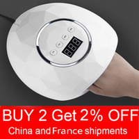 10s/30s/60s/99s Intelligent Digital Display Pink White Diamond UV Lamp Nail Dryer Fast Curing Gel Polish for Nail Manicure Tools