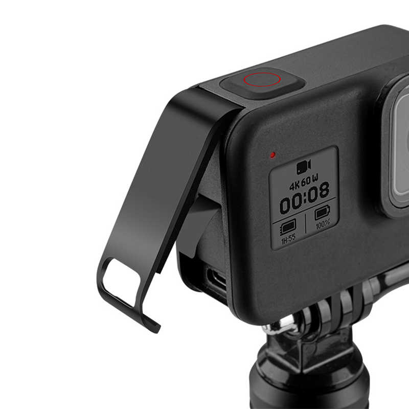 Thay Thế Sạc Bên Nhà Ở Đựng Pin Cửa Dành Cho GoPro Hero 8 Màu Đen Có Thể Tháo Lắp Camera Hành Động Phụ Kiện