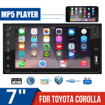 Car Radios Mirrorlink 2 din FIT FOR Toyota Corolla Car Monitor Auto Radio Bluetooth Car Stereo Rear View FM USB AUX MP5 Player image