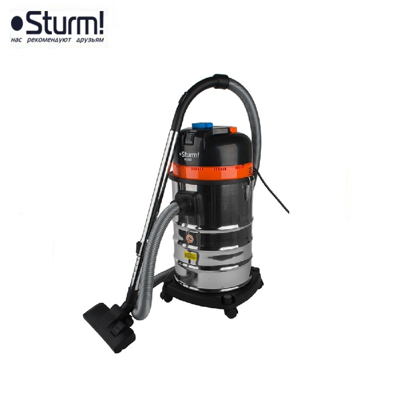 VC7203 Industrial vacuum cleaner 1600W, 30l capacity, 2kW electrical outlet, automatic on / off STURM! Handheld vacuum мешок sturm vc7203 885