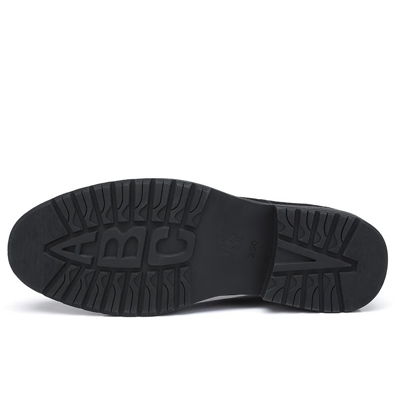 Zapatos de CAMEL para hombre cómodos zapatos casuales hombres cuero genuino Retro moda negocios suave antideslizante zapatos de hombre - 5