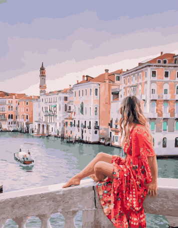 Painting By Numbers PK 38037 Travel To Venice 40*50