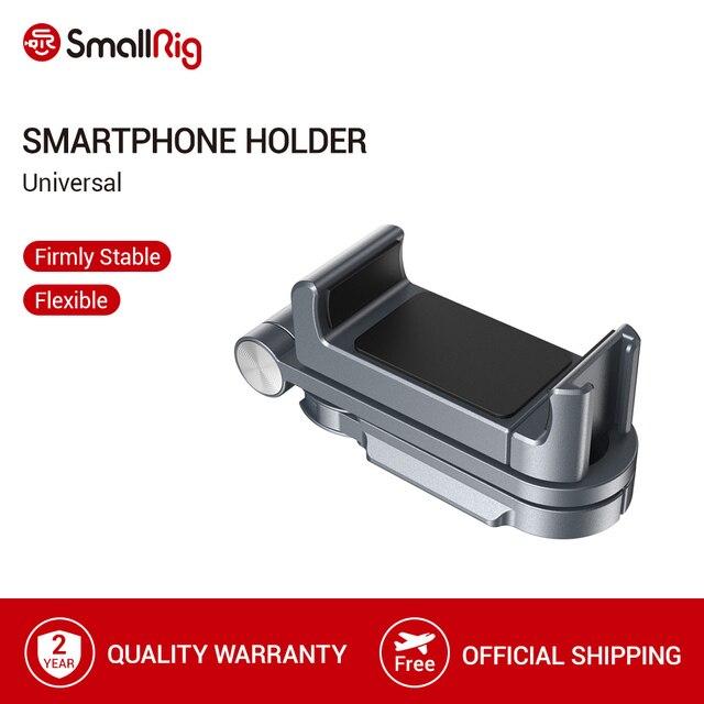 SmallRigผู้ถือสมาร์ทโฟนสากลสำหรับIphone X/XS Vloggingอุปกรณ์เสริมโทรศัพท์มือถือClamp Mountรองเท้าเย็นMount  2415