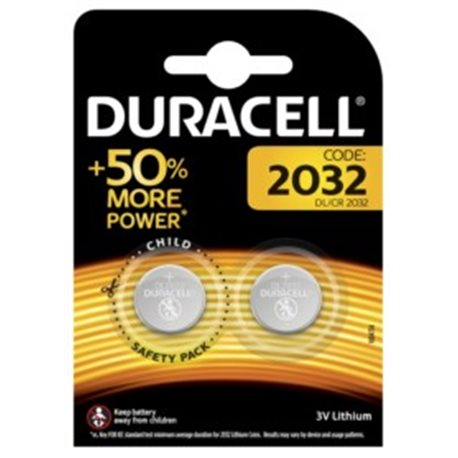 BUTTON BATTERY DURACELL 2032 2 PZ