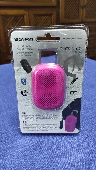 Altavoz portátil Bluetooth, 3W, 4 horas de batería, Alcance: 10m, 75gr, rosa