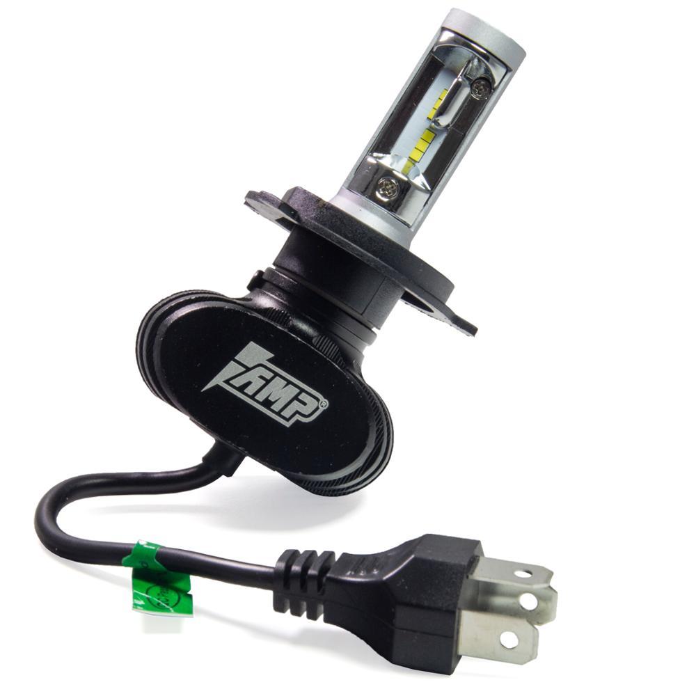 AMP H01 чип CSP 12 V/24 V Автомобильная светодиодная лампа для фар H4 H7 9003 H11H1 H3 H8 H9 9005 9006 светодиодные фонари для грузовика 1 шт. - 4