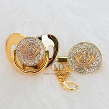 MIYOCAR набор золотых и красивых золотистых сосков с розовой короной, набор пустышек без БФА, уникальный дизайн APCB