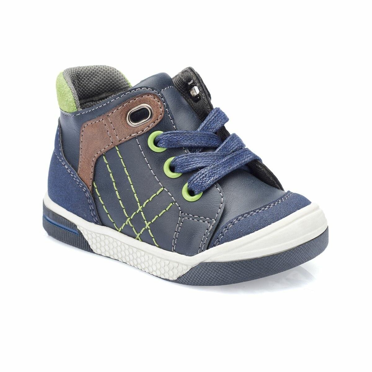 FLO 82.510792.I Navy Blue Male Child Boots Polaris
