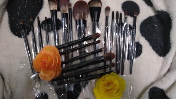 Jessup New Arrival Makeup brushes brushes Phantom Black 3-21pcs Foundation brush Powder Concealer Eyeshadow Synthetic hair reviews №3 49071