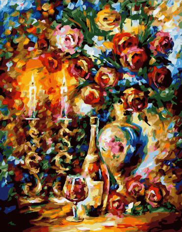 Painting By Numbers GX 32818 Heat Candles 40*50