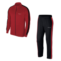 Plus Size Men's Burgundy Casual and Fitness Tracksuit 4XL 10XL Single Striped M1