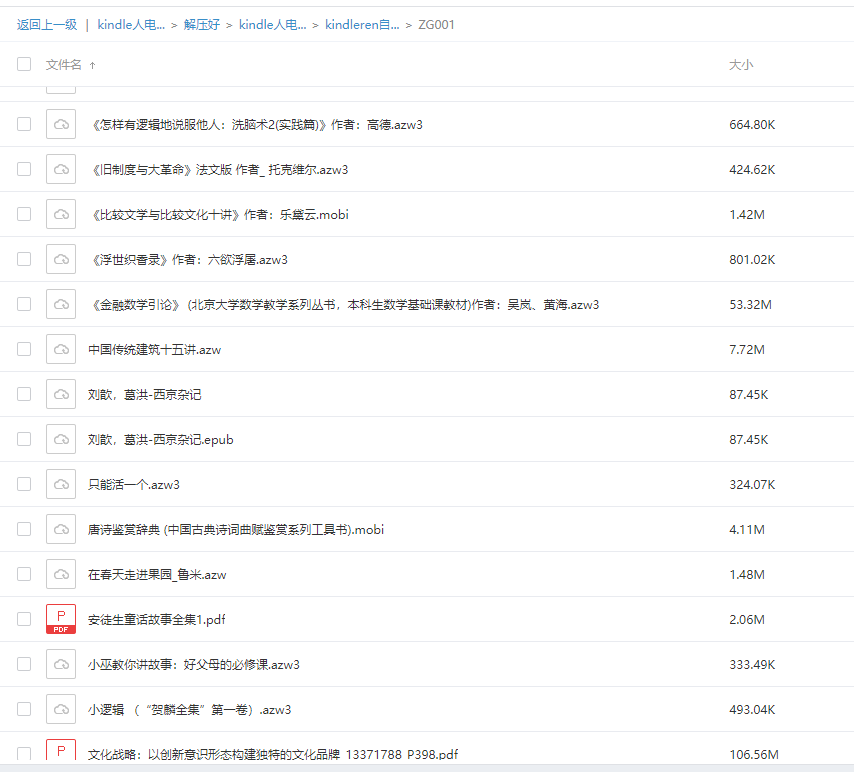 kindle人电子书合集89G 天翼网盘下载