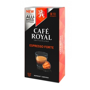 ESPRESSO FORTE, coffee Royal 10 compatible Nespresso aluminum capsules