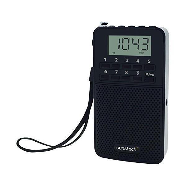 ТРАНЗИСТОР радио Sunstech RPDS81BK AM/FM PLL 20 mW черный