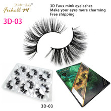 Friholl.m Lashes 6 Pairs 3D Faux mink Lashes Makeup Beauty 3D5D Synthetic Silk False Eyelashes Custom Package Private Label(China)