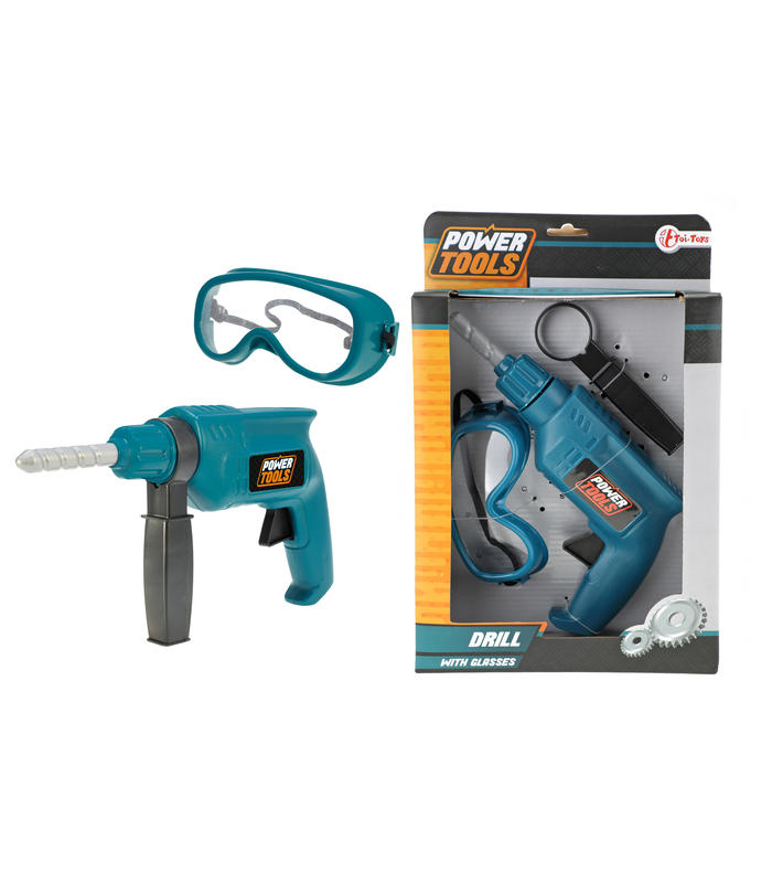 Tool Set With Drill And Glasses Toy Store Articles Created Handbook
