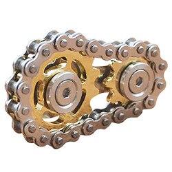 Fingertip Spinner, Fingertip Gyro Sprocket Flywheel Fingertip Toy, Stress Relief Gear Spinner Toy, Silent Stainless Steel Toys