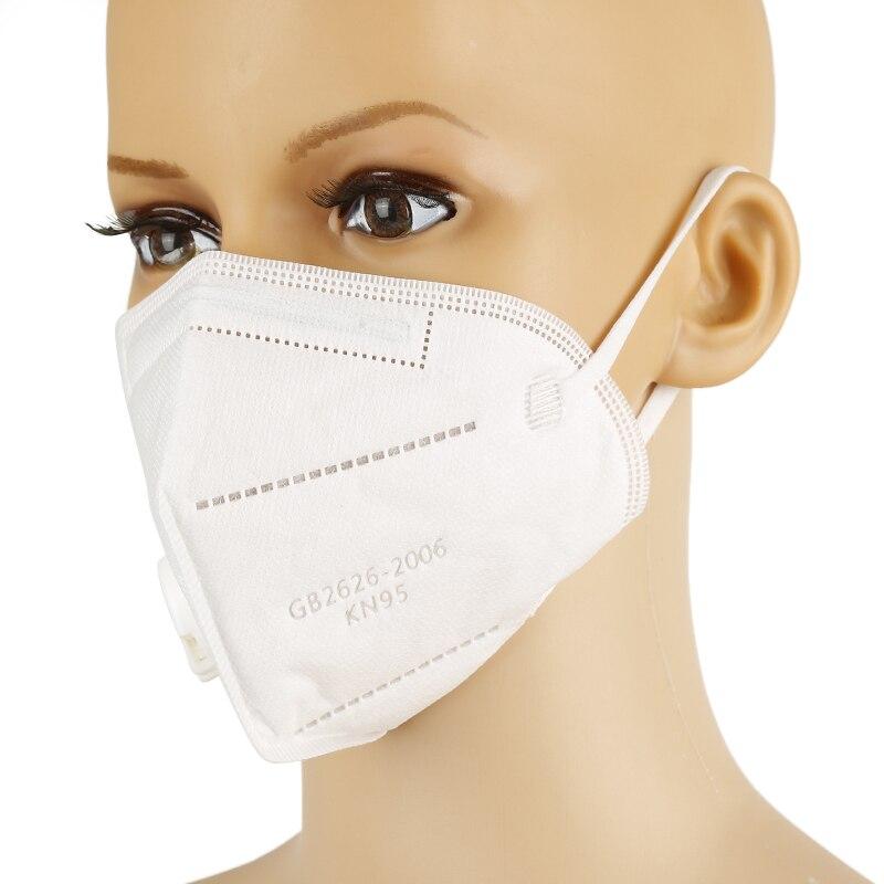 Masque KN95 à 5 couches, pour la sécurité, respirateur de poussière, pour la bouche, pour la protection, pour la sécurité, réutilisable 2