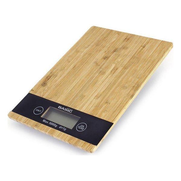 Digital Kitchen Scale Basic Home 5 K LCD Bamboo