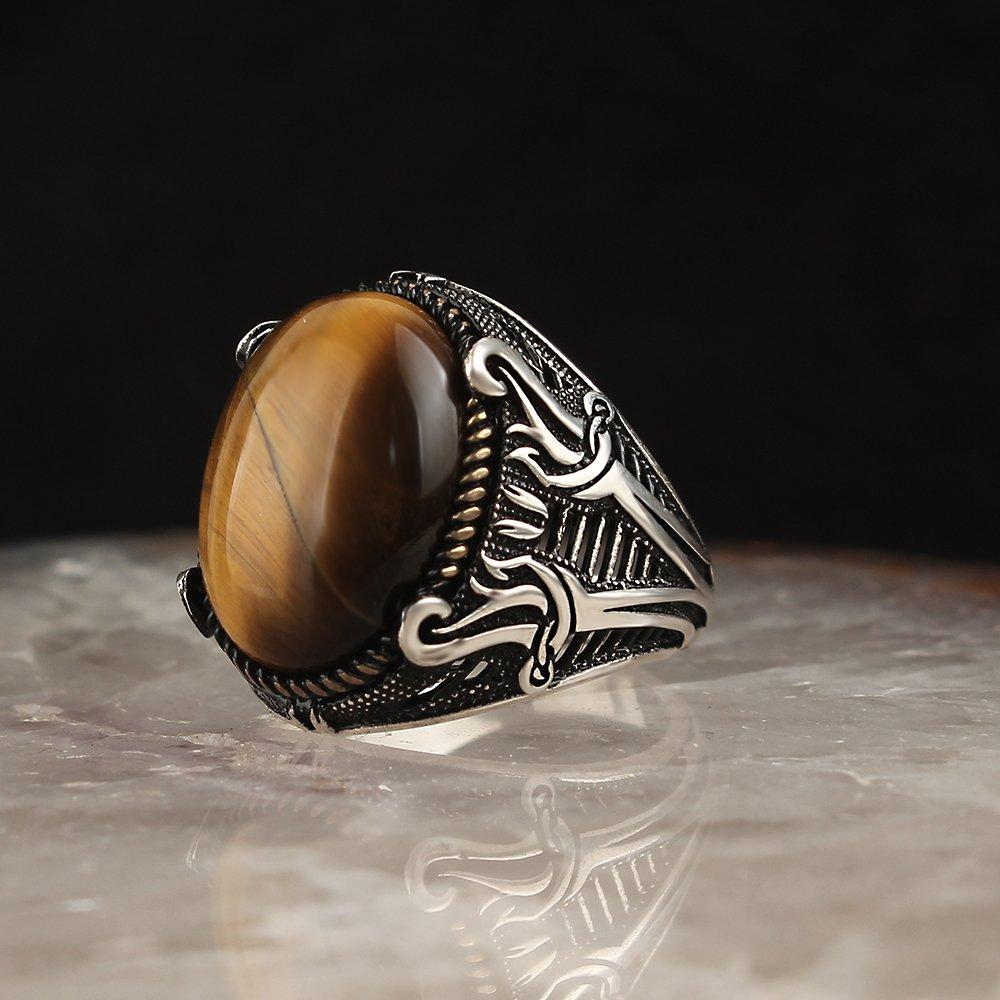 Bague homme 925 en argent Sterling cristal pierre de mariage hommes anneaux hommes bijoux anneaux pour hommes anneaux pour femmes hommes anneaux hommes bijoux