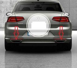 Marco Deflector difusor de escape cromado VW Passat B8 2015-2017 2 uds acero inoxidable