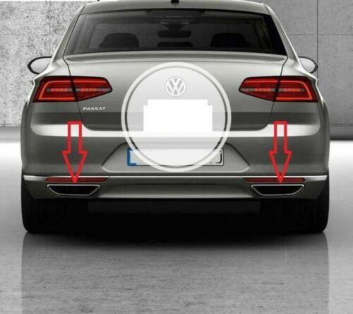 VW Passat B8 2015-2017 Chrom Auspuff DIFFUSOR Deflektor Rahmen 2 stücke Edelstahl