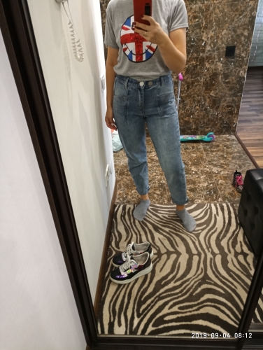 Women Slim Pencil Pants Vintage High Waist Jeans Full Length Pants photo review
