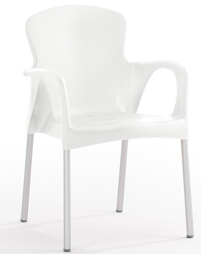 Armchair SEINE Stackable Polypropylene White *