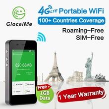 Glocalme G3 4グラムwifiルーター150 100mbpsのlteワイヤレスロック解除携帯のルータホットスポットブラック電源銀行と1ギガバイトグローバル初期データsim送料
