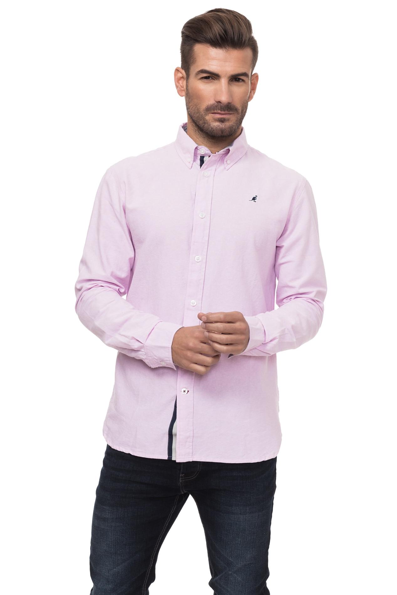 Kangol OXFORD MENS LS SHIRT Shirt's Men Color Blush Cotton KG2G112966AA2ABL-2