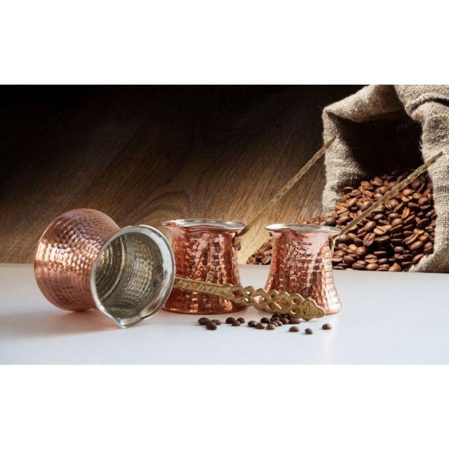 Hand Hammered Ibrik Turkish Coffee Pot 5