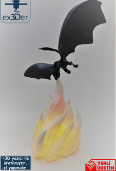Decorative Flame Dragon Desktop Lamp 6
