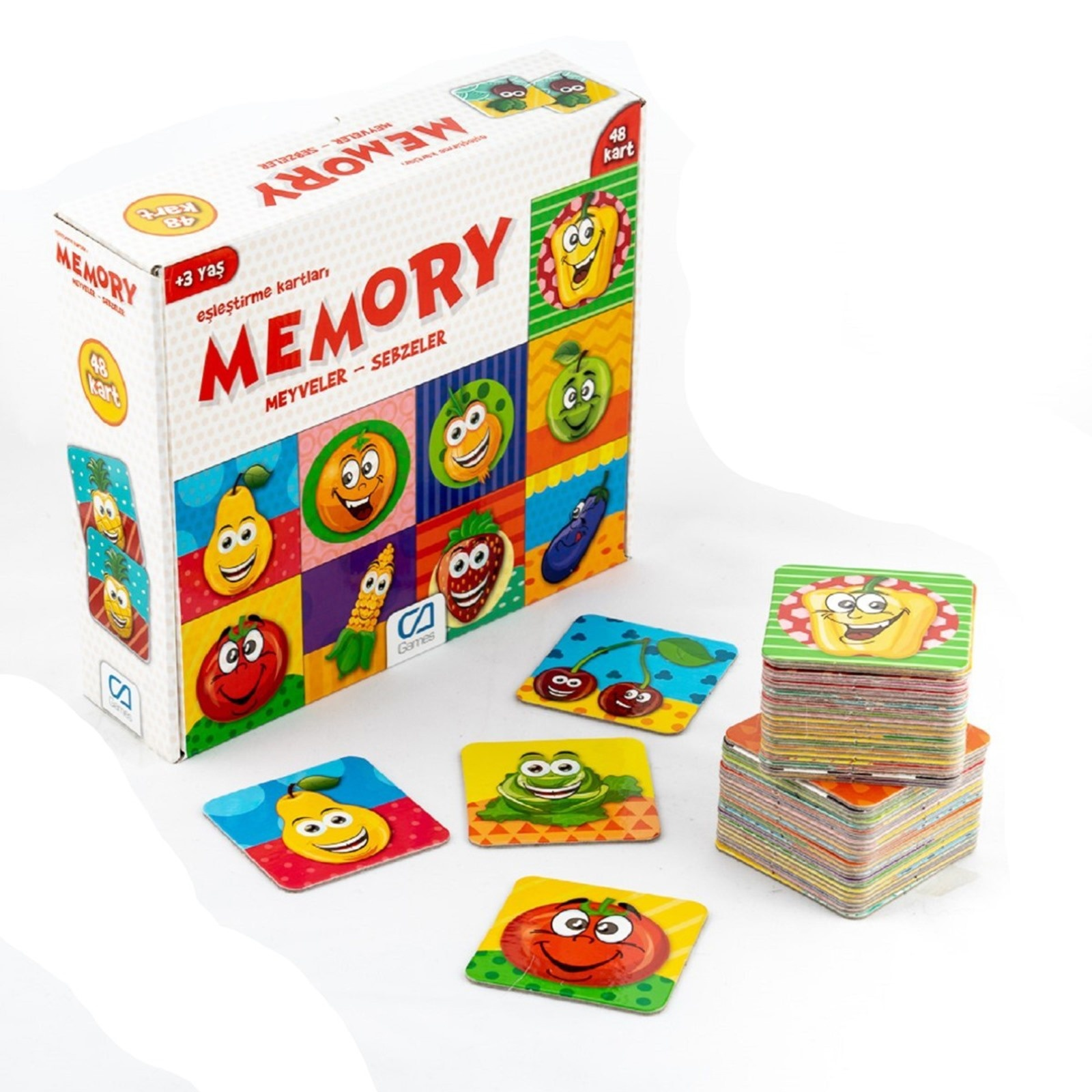 Ebebek Ca Games Memory Fruits Vegetables 48 Cards 3 Years+