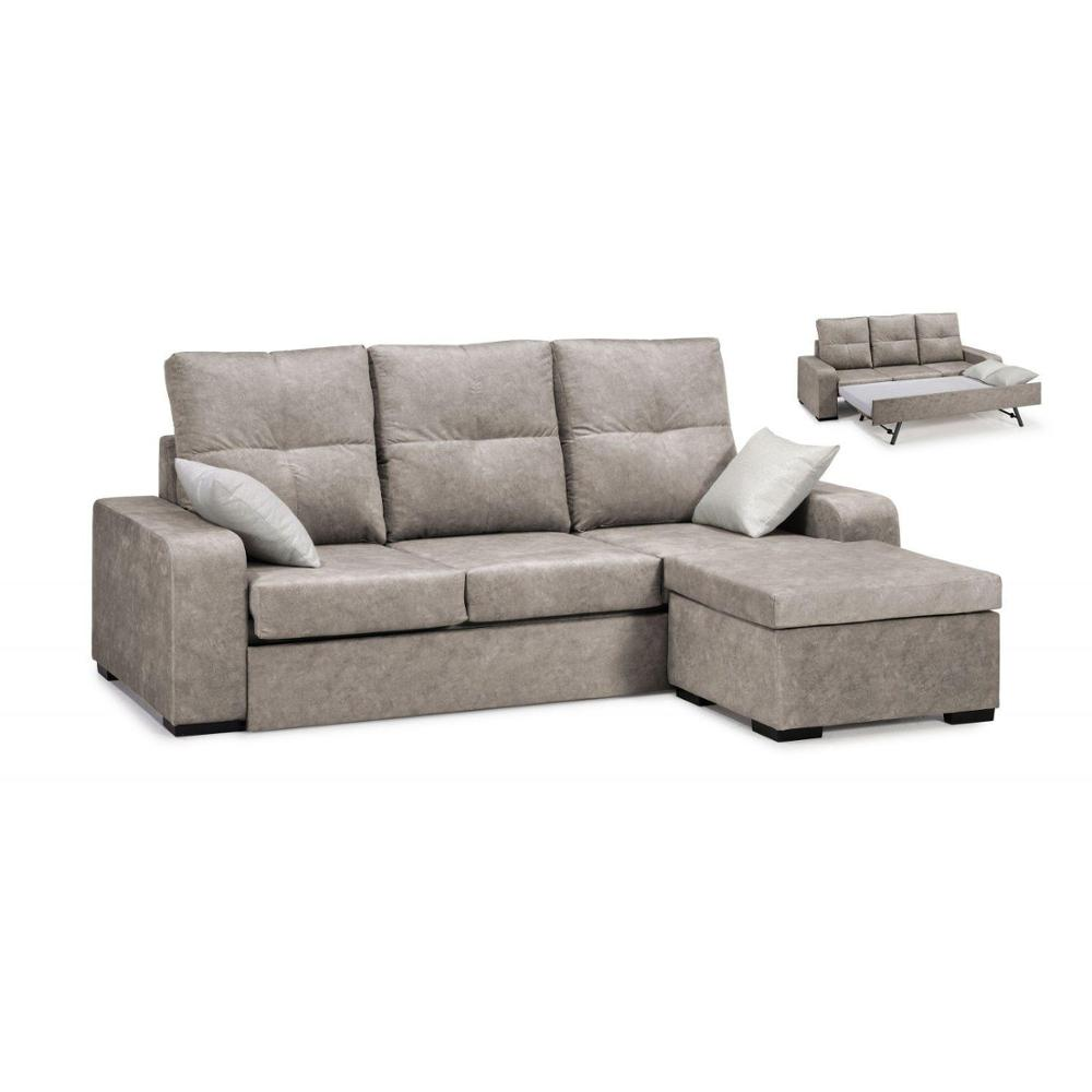 Sofa Chaise Longue/BED, 4 Seater, CLIMB A DOMICILE, Color Brown, Ref-53