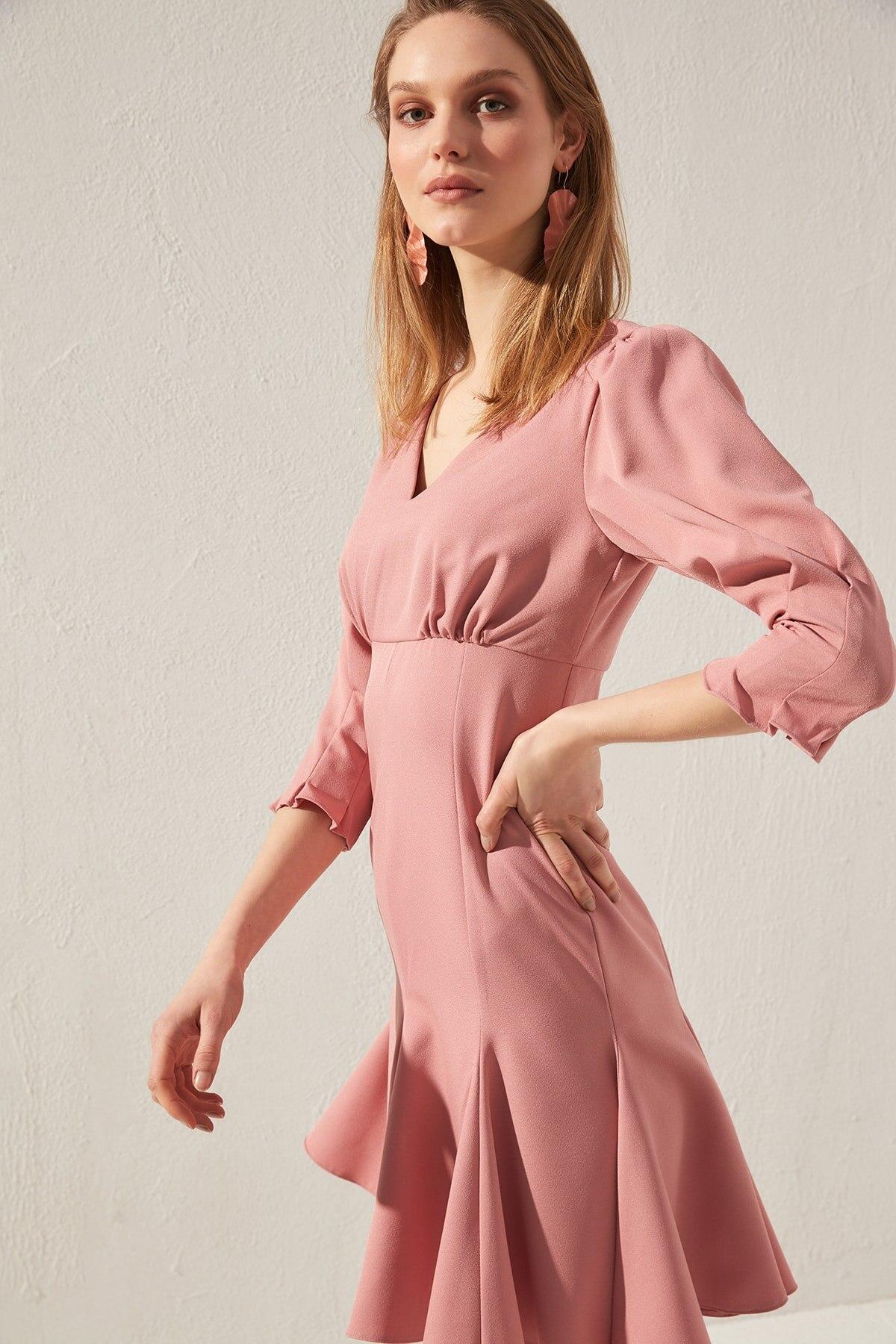 Vestido básico Trendyol TWOSS20EL0356 - 5