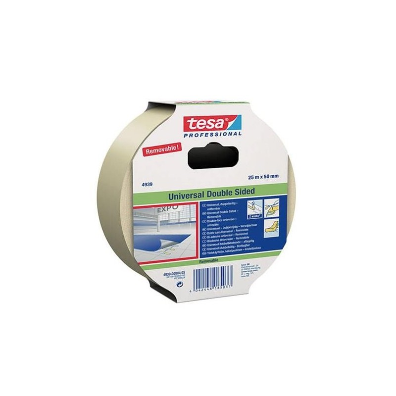 DOUBLE SIDED TAPE REMOVABLE UNIVERSAL 4939