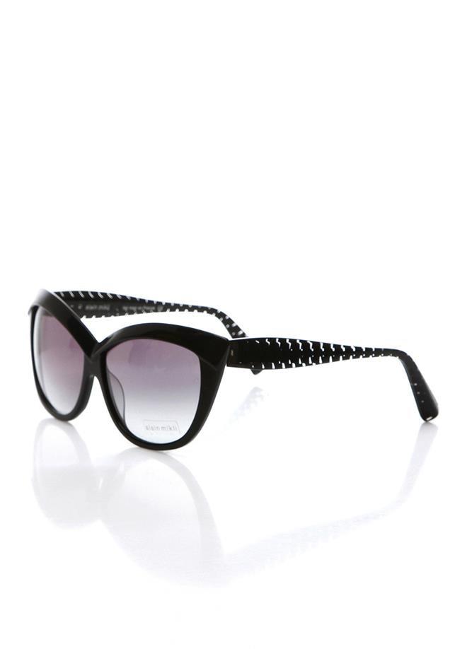 Women's sunglasses a 1313 a02g 4320 bone black organic butterfly cat eye 63-13-135 alain mikli