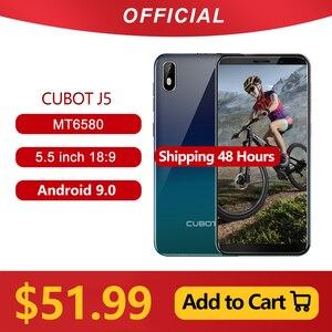 "Image 1 - Cubot J5 Smartphone 5.5 ""18:9 Full Screen MT6580 Quad Core Android 9.0 Telefoon 2Gb Ram 16Gb rom Telefoon Dual Sim kaart 2800Mah 3G"