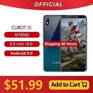 Image 1 - Cubot teléfono inteligente J5 3G, Pantalla Completa 18:9 de 5,5 pulgadas, procesador MT6580, Quad Core, Android 9,0, 2GB RAM, 16GB ROM, Tarjeta SIM Dual, batería de 2800mAh