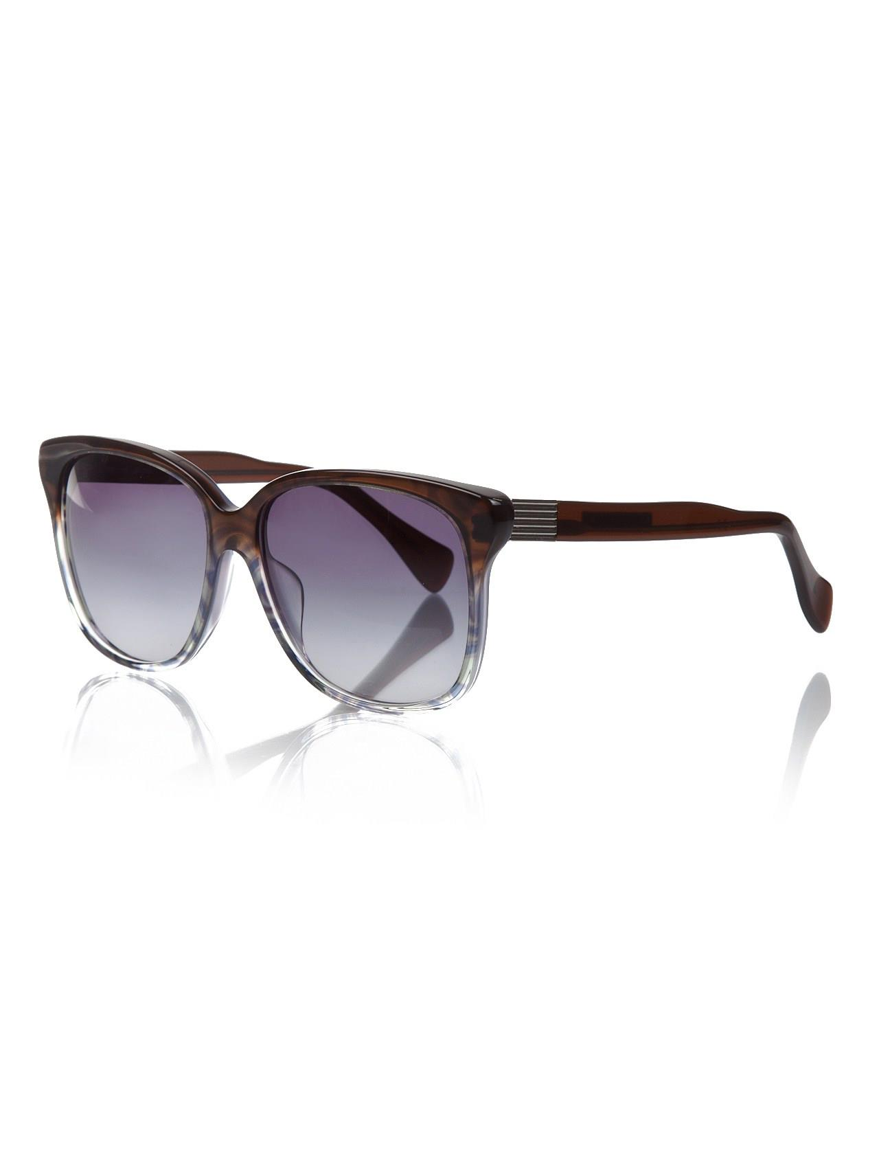 Women's sunglasses ep 728 491 bone color organic rectangle rectangular 56-16-135 emilio pucci