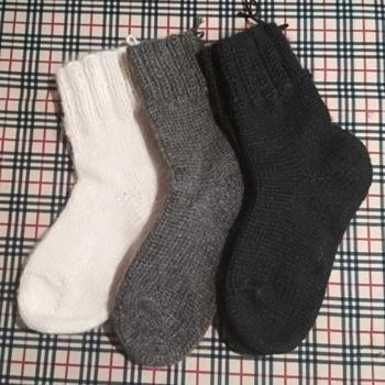 Носки шерстяные вязанные, 70%шерсть 30% полиэстр,