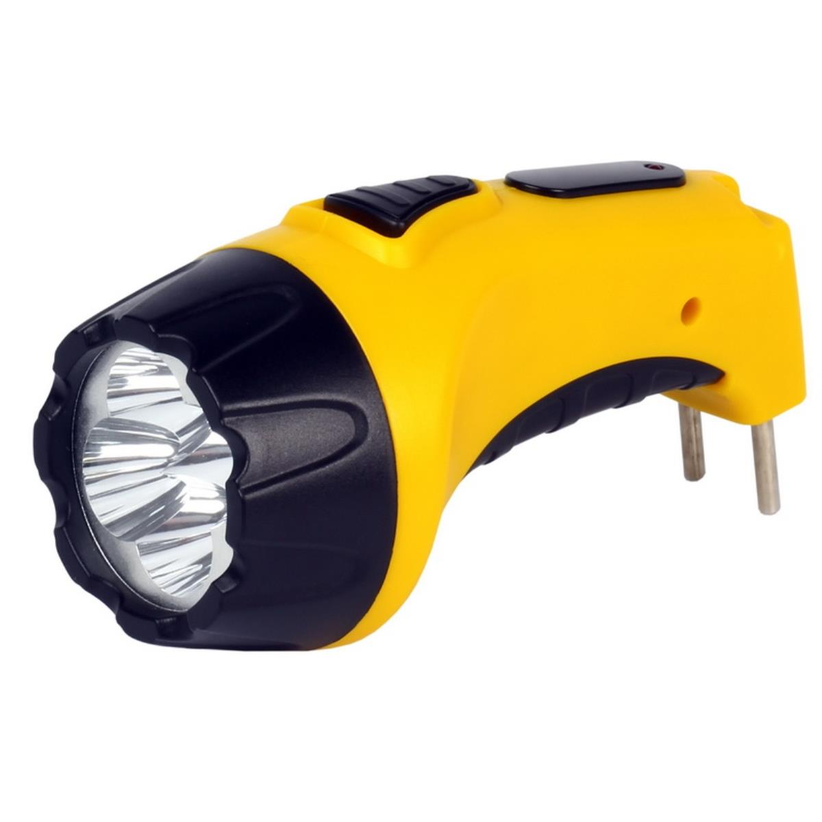 Flashlight Manual Rechargeable LED SmartBuy 500 MAh (charging From 220 V, Built-in Plug; Color: Black/same