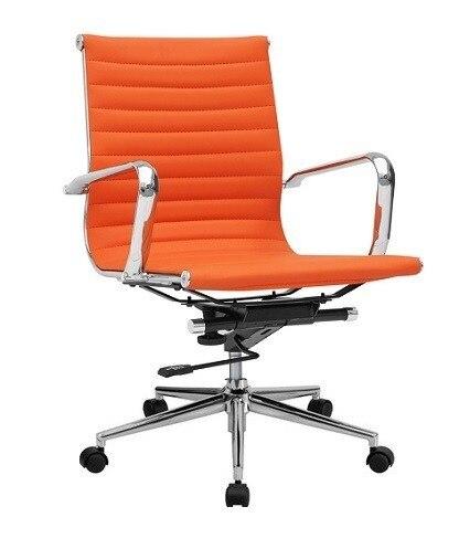Office Armchair PHILIP, Rotatable, Gas, Tilt, Similpiel Orange