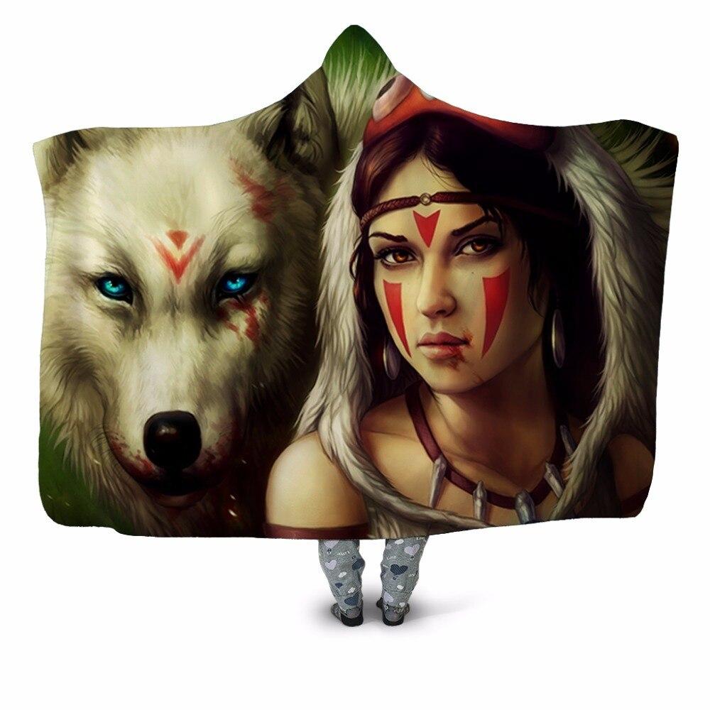 Princess-Mononoke-3d-Print-Hooded-Blanket-Couch-Sofa-Quilt-Cover-Travel-Velvet-Plush-Throw-Fleece-Blanket