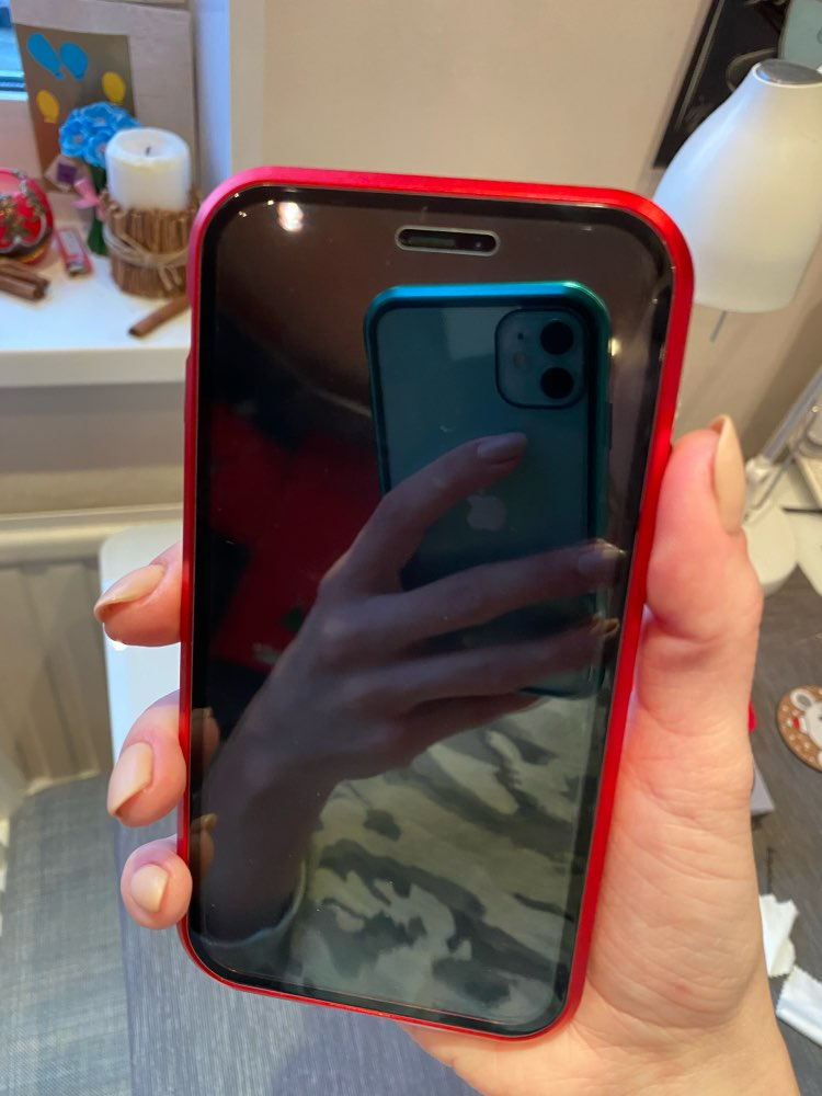 Magnetic Tempered Glass Case For iPhone 11 photo review