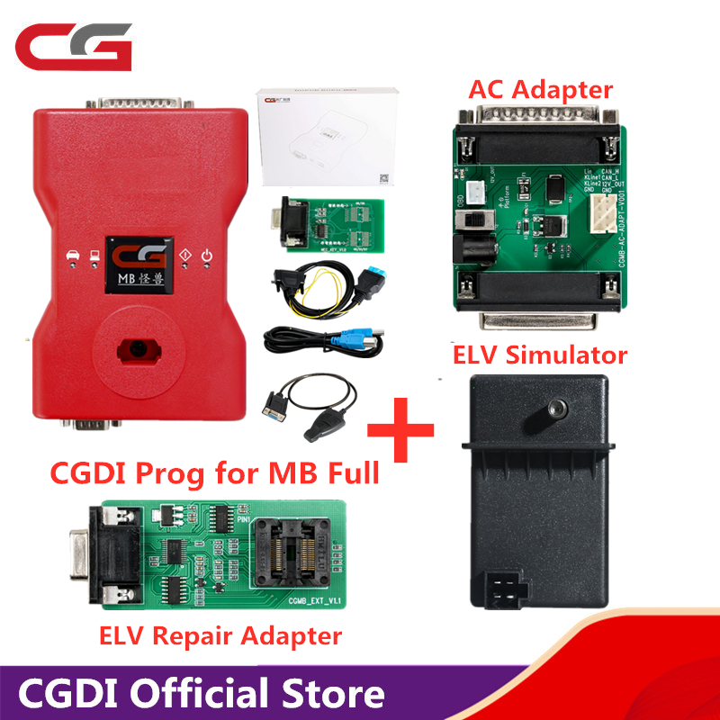CGDI Prog for <font><b>MB</b></font> <font><b>Key</b></font> <font><b>Programmer</b></font> Support All <font><b>Key</b></font> Lost comes with ELV Repair Adapter & AC Adapter & ELV Simulator image
