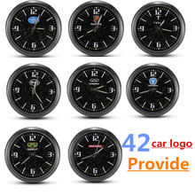 High precision car clock watch luminous for Opel Seat F ord N issan KIA Renault MINI and other with 42 car logo clock interiors