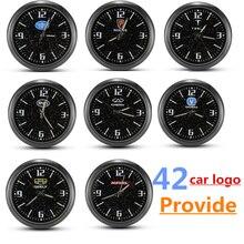 Relógio automático luminoso mini carro ventilação de ar relógio de quartzo para mini renault honda geely haval B MW a udi e 32 outros emblema do carro relógios